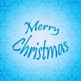 Conception de lettrage de Joyeux Noël Carte de vecteur Fond de vacances Photos stock