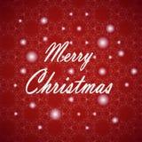 Conception de lettrage de Joyeux Noël Carte de vecteur Fond de vacances Photographie stock