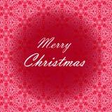 Conception de lettrage de Joyeux Noël Carte de vecteur Fond de vacances Images libres de droits