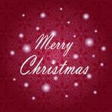 Conception de lettrage de Joyeux Noël Carte de vecteur Fond de vacances Photo stock