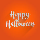 Conception de lettrage heureuse de Halloween Images libres de droits