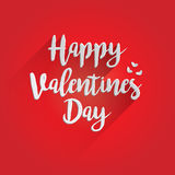 Conception de lettrage heureuse de jour de valentines Photo stock