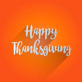 Conception de lettrage heureuse de thanksgiving Images stock