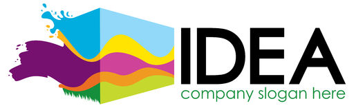 Conception de logo Image stock