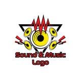 Conception de logo de bruit et de musique Images stock