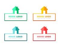 Conception de logo de Chambre dans diverses couleurs Photos stock