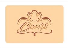 Conception de logo de Chocolat illustration stock