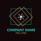Conception de logo d'appareil-photo Image libre de droits