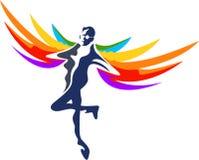 Conception de logo d'homme de vol illustration stock