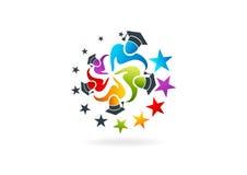 Conception de logo d'obtention du diplôme illustration libre de droits