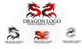 Conception de logo de dragon Mythologie de monstre illustration libre de droits