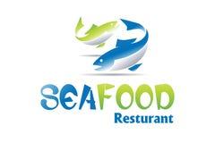 Conception de logo de fruits de mer illustration stock
