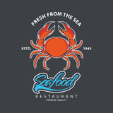 Conception de logo de fruits de mer Image libre de droits