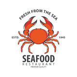 Conception de logo de fruits de mer Images stock