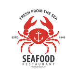Conception de logo de fruits de mer Image stock