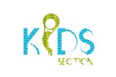 Conception de logo de gosses Photo libre de droits