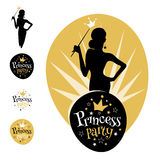 Conception de logo de princesse Party Photos stock