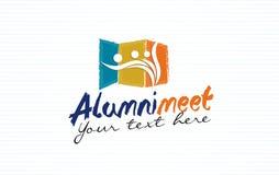 Conception de logo de rassemblement d'anciennes élèves illustration stock