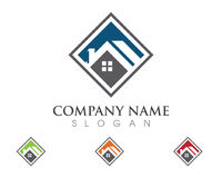 Conception de logo de Real Estate, de propriété et de construction Photos stock