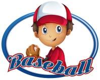Conception de logo de sport avec le joueur de baseball Photos libres de droits