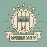 Conception de logo de whiskey - label de whiskey de vintage illustration libre de droits