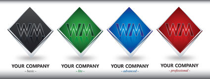 Conception de logo de WM Images stock