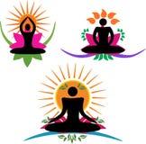 Conception de logo de yoga Photographie stock