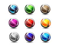 Conception de logo et d'icône de S 3d illustration libre de droits