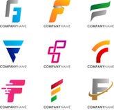 Conception de logo de F image stock