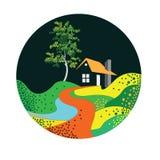 Conception de Logo Illustration de Chambre de calibre de vecteur pour des affaires de propriété illustration libre de droits