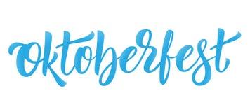 Conception de logo de lettrage d'Oktoberfest pour le festival allemand Oktoberfest de bière Images libres de droits