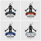 Conception de logo de plongée à l'air illustration libre de droits