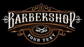 Conception de logo de raseur-coiffeur illustration libre de droits