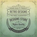 Conception de logo de typographie dans le rétro style, magasin de conception, qualité de la meilleure qualité Label garanti de vi illustration de vecteur
