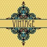Conception de luxe de vignette de vintage d'élégance Image stock