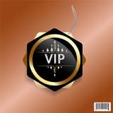 Conception de luxe exclusive d'étiquette de VIP Photographie stock