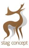 Conception de mâle de cerfs communs Photos libres de droits