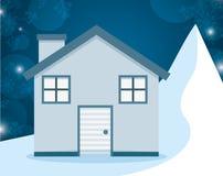 Conception de maisons d'hiver Photographie stock
