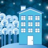 Conception de maisons d'hiver Photo libre de droits