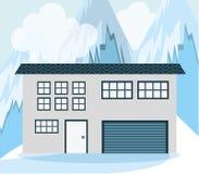 Conception de maisons d'hiver Photos stock