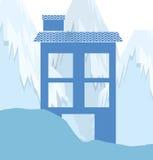 Conception de maisons d'hiver Photographie stock libre de droits