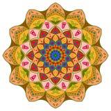 Conception de mandala, éléments décoratifs de vintage, fond ornemental de griffonnage illustration stock
