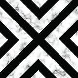 Conception de marbre de texture de vecteur avec des formes géométriques, surface de marbrure noire et blanche, fond luxueux moder illustration stock