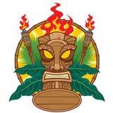 Conception de masque de Tiki pour le concept tropical Images stock