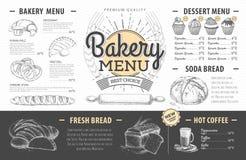 Conception de menu de boulangerie de vintage Le dîner de mariage avec de la viande de roulis a fumé et des tomates Photos stock