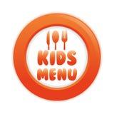 Conception de menu d'enfants Image libre de droits