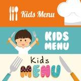 Conception de menu d'enfants Photos libres de droits