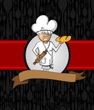 Conception de menu de bande dessinée de Baker Illustration Stock