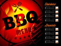 Conception de menu de brochure de BBQ Image libre de droits