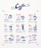Conception de menu de café Images libres de droits